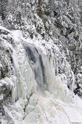 OK Slip Falls in winter. Credit: Carl Heilman II.