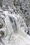 Rock Climbing Photo: OK Slip Falls in winter. Credit: Carl Heilman II.