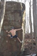 Rock Climbing Photo: Homefront Arete, CT classic