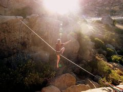 Rock Climbing Photo: Highlining!