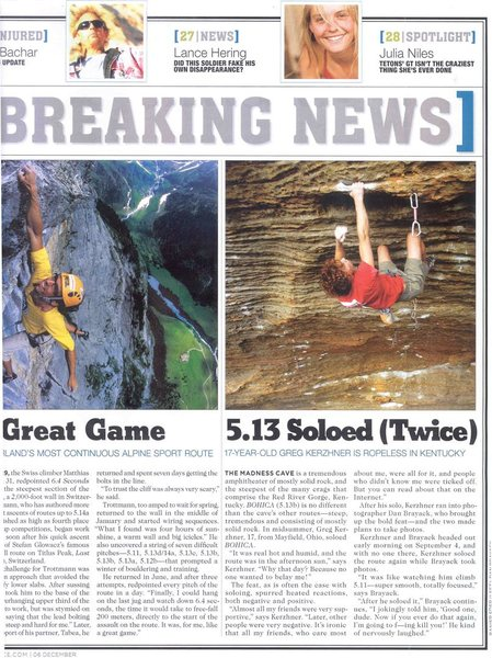 Rock Climbing Photo: From Rock and Ice.
