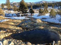 Rock Climbing Photo: Carson River hot tub.