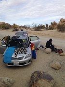 Indian Cove Campground dirtbag mobile. Joshua Tree 2014