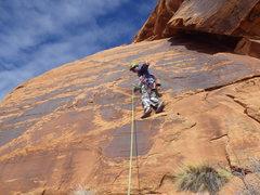 Rock Climbing Photo: on it