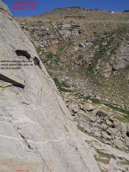 Rock Climbing Photo: First ascent.