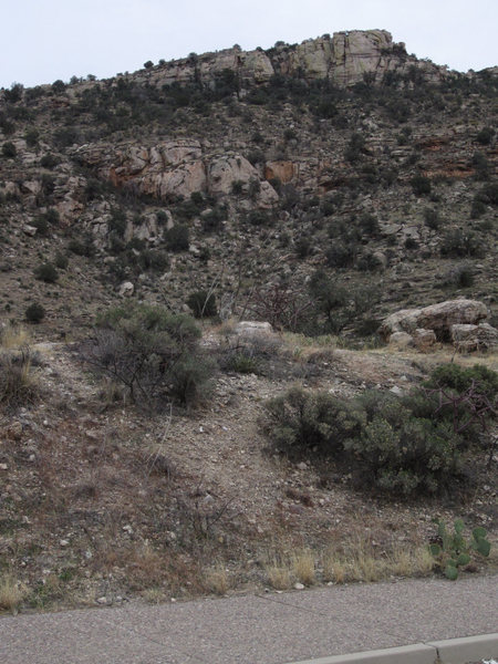 Rock Climbing Photo: Amateur Hour Crag as seen from the parking lot. (R...