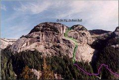 Rock Climbing Photo: Photo topo from afar.