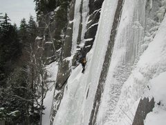 Rock Climbing Photo: The gully in easier conditions!