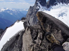 Rock Climbing Photo: West Ridge with boot from summit of Pigeon ...