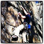 Rock Climbing Photo: Working the bottom of Ken's.  A beautiful, clean c...