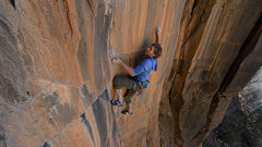 Rock Climbing Photo: Joel Unema on the FA of Gemini Dragonfire 5.13+, i...