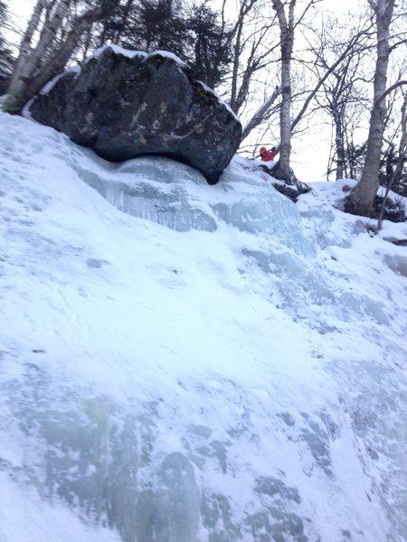 Rock Climbing Photo: Part of the Workout Wall at Smuggler's Notch. Clos...