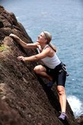 Climbing at Peterborg point in St. Thomas, US via