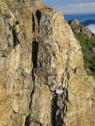 Rock Climbing Photo: Kurt pondering the finish moves