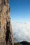 Rock Climbing Photo: Hailstone in the clouds. Photo: Jerry Dodrill