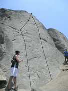 Rock Climbing Photo: Montblanc (1) and unknown route (2)