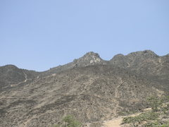 Rock Climbing Photo: Las Viñas rocks seen from the trail