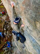 Rock Climbing Photo: Chandler Davis on the crux sequence.