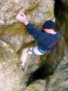 Rock Climbing Photo: Brandon on the final moves.