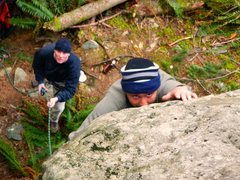 Rock Climbing Photo: Possessed or psyched?
