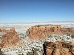 Rock Climbing Photo: Winter in Colorado National Monument.
