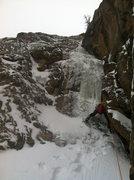 Rock Climbing Photo: Initial step.