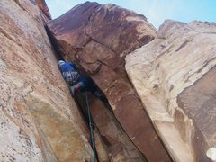 Rock Climbing Photo: Weston L leading Critical Cams