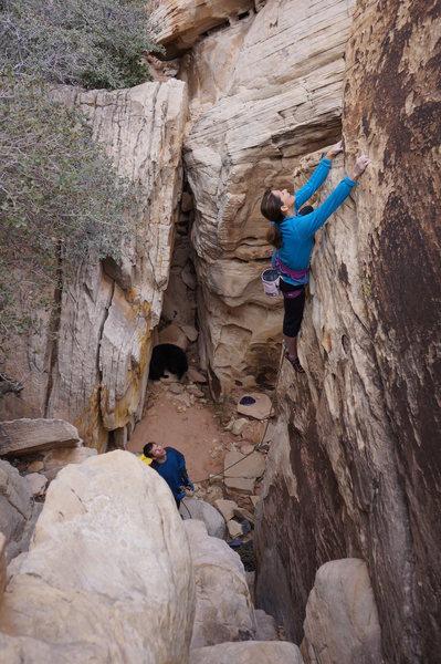 Rock Climbing Photo: Audrey on Hidden Edge