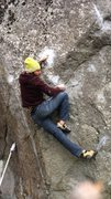 Rock Climbing Photo: getting set up for the crux dead point throw, low ...