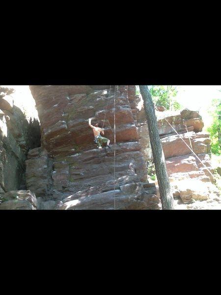 Rock Climbing Photo: Climbing phone booth
