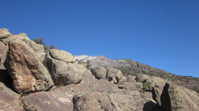 Rock Climbing Photo: The Skyline Boulders, The Pissing Gargoyle in the ...