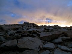 Rock Climbing Photo: Top of Mt Whitney just before sunrise