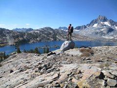 Rock Climbing Photo: Overlooking Thousand Islands Lake