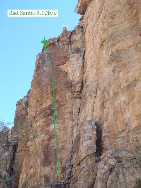 Rock Climbing Photo: Bad Santa (February 2014)