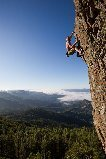 Rock Climbing Photo: Jim Thornburg climbing through the lower section. ...