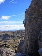 Rock Climbing Photo: Climbing the arete of Jabba.