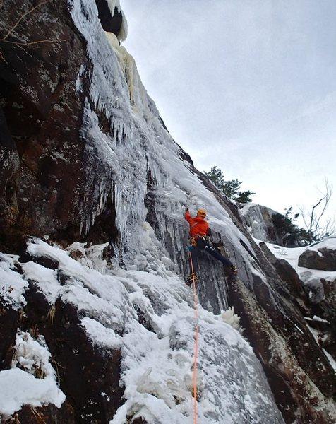 Rock Climbing Photo: Adam B. leading Welcome to the Machine