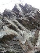 Rock Climbing Photo: Mike following.
