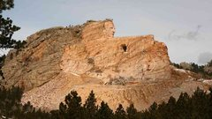 Rock Climbing Photo: Crazy horse profile