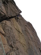 Rock Climbing Photo: the crux of the Diagonal route