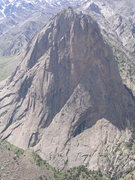 Rock Climbing Photo: the route follows the obvious left to right diagon...