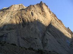 Rock Climbing Photo: diagonal route