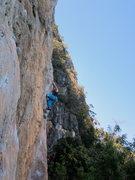 Rock Climbing Photo: Me, negotiating the crux traverse