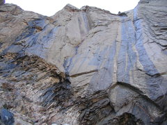 Rock Climbing Photo: A nice looking 1000' dihedral route at the north e...