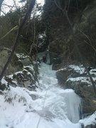 Rock Climbing Photo: Joshua Corbett leading out the gully.
