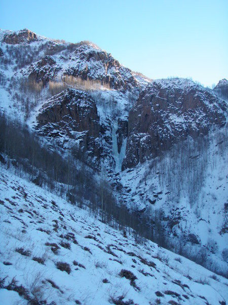 Uzunkavak waterfalls from afar