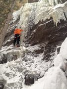 Rock Climbing Photo: Small Flow (R) on 9 Feb. 2014.