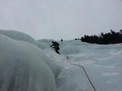 Rock Climbing Photo: Andy Going through the fun bulges