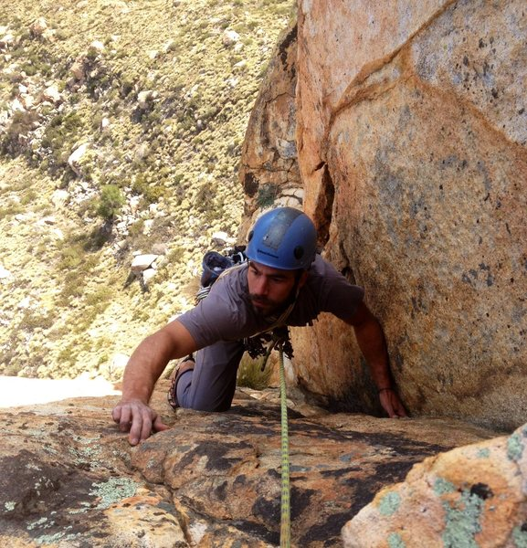 Rock Climbing Photo: Last pitch of Center Direct. One of the best 5.10s...