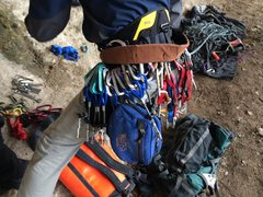 Rock Climbing Photo: bolting rack